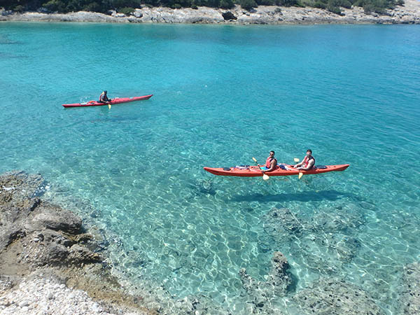 sea kayak greece tour
